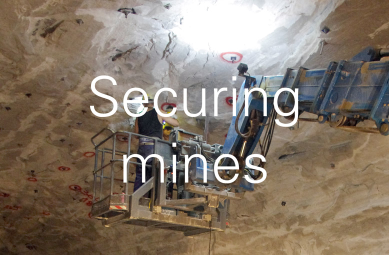 securing mines